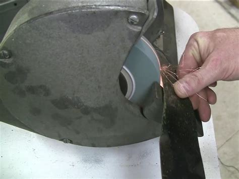 how to sharpen a lawnmower blade with a bench grinder blade sharpening hair clippers