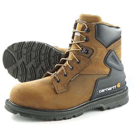 s carhartt steel toe waterproof 6 quot bison boots