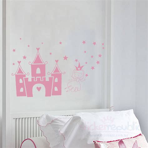 princess castle wall sticker princess castle wall sticker