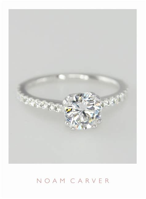 single band engagement rings a classic solitaire for a classic designer