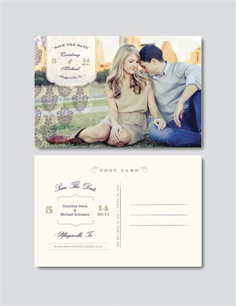 vintage save the date template save the date postcard template 25 free psd vector eps