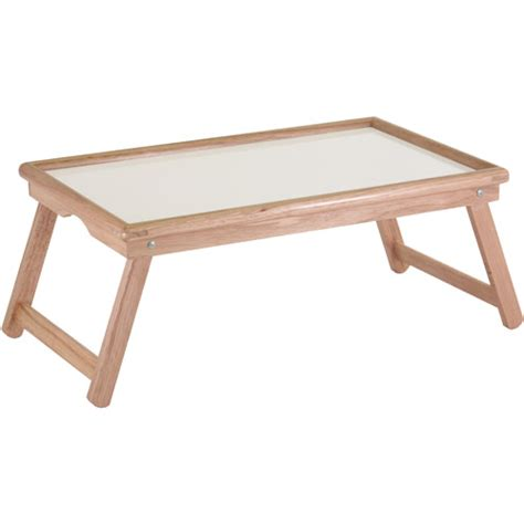 walmart bed table basic lap table bed tray white melamine and beechwood