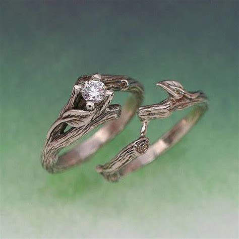 the acadia wedding ring set gold and