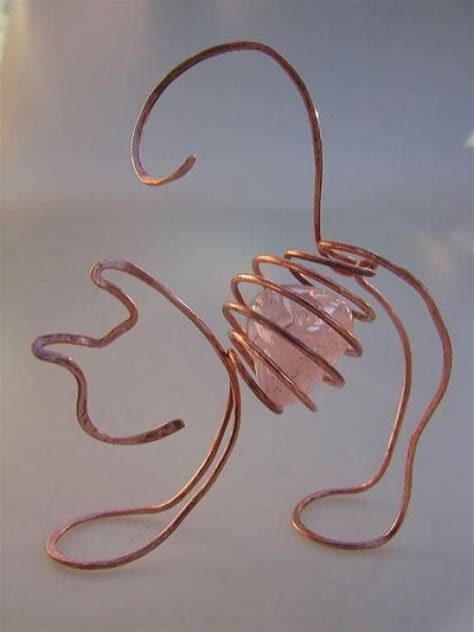 wire craft projects 3d wire wrapped cat craft ideas 5575 lc pandahall