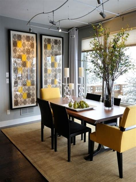 yellow dining room gray and yellow dining room for the home pinterest