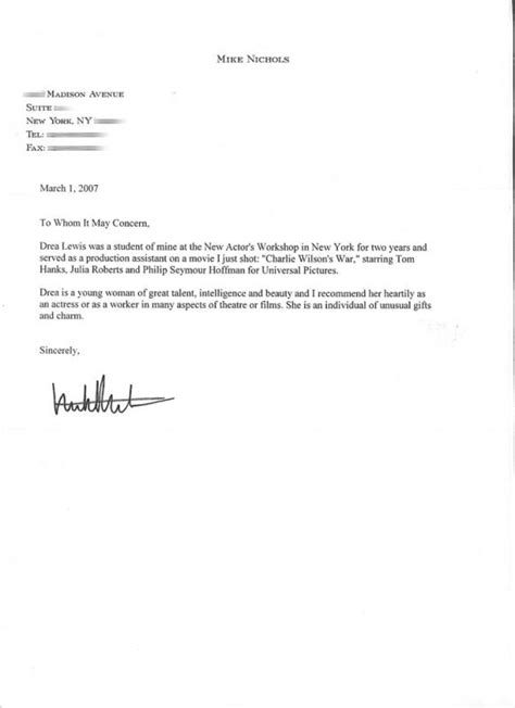 Letter Of Recommendation Templates Word Template Business Template For A Letter Of Recommendation For A Student
