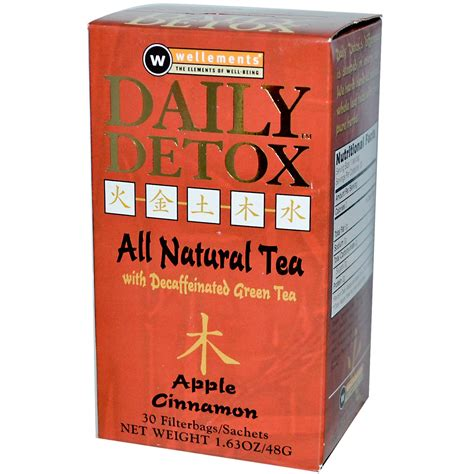 Detox Tea by Wellements Daily Detox Tea Apple Cinnamon 30 Bags