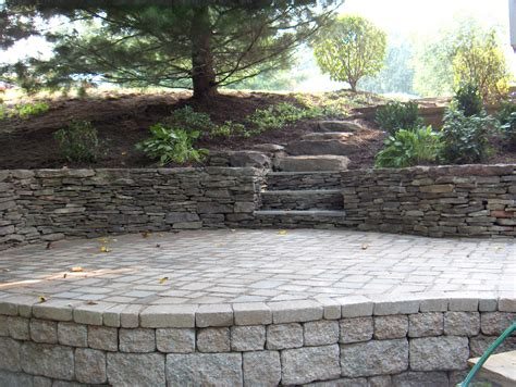 Paver Patio With Retaining Wall Retaining Wall Design And Construction In Northern Va