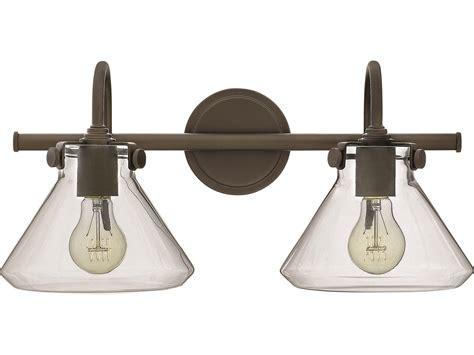 Hinkley Vanity Light Hinkley Lighting Congress Rubbed Bronze Two Light Vanity Light 50026oz