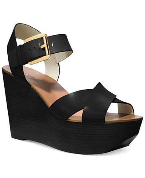 macy s shoes michael kors michael michael kors peggy platform wedge sandals shoes