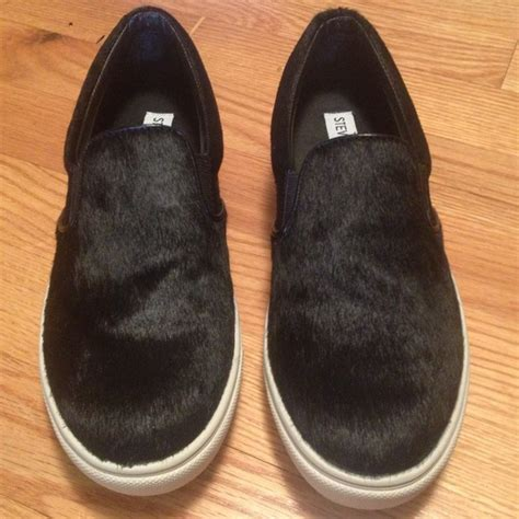 pony hair sneakers 45 steve madden shoes steve madden ecentric pony