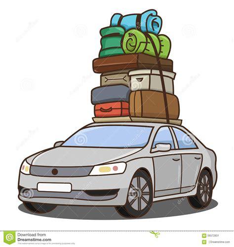 United Luggage Voiture Avec Le Bagage Illustration De Vecteur Image