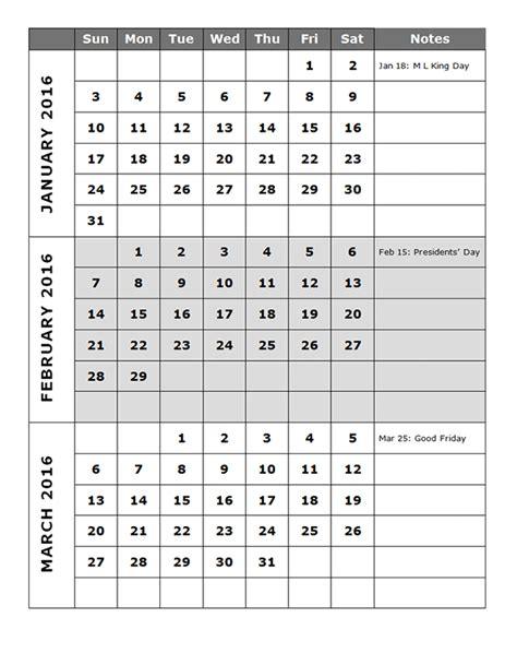 2016 Quarterly Calendar Template 14p Free Printable Templates Quarterly Planner Template