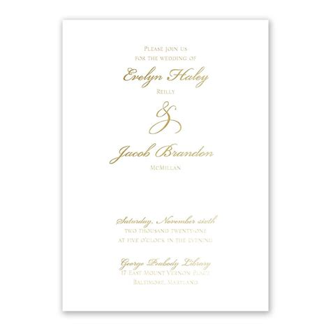 Gold Wedding Invitation Cards by Gilded Gold Foil Invitation Invitations By