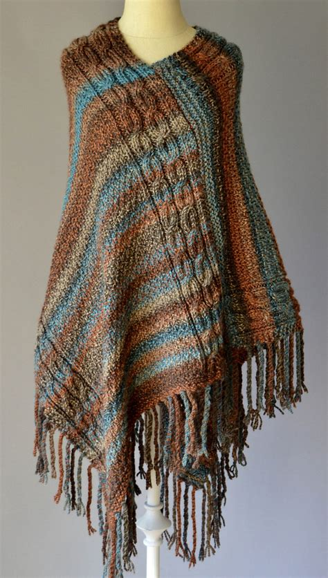 Poncho Pattern Knitting Yarn | free knitting pattern for double cable poncho this