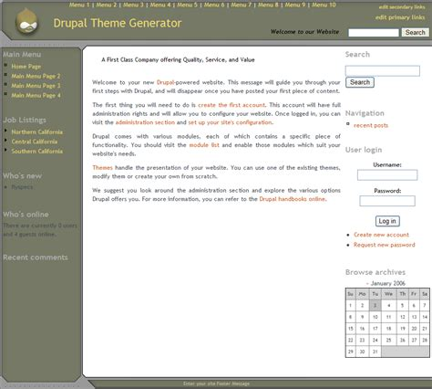 theme generator writing drupal theme generator version 4 features and