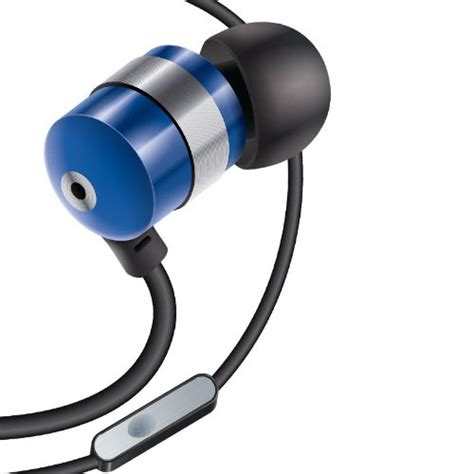 Headset Iphone 5 Kw Hf 2 gogroove blue earbuds in ear headphones with bass and interchangeable noise isolating