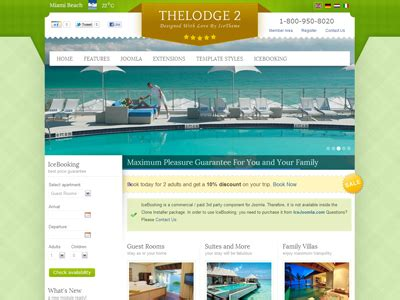 joomla template hotel free download it thelodge 2 joomla online booking template for hotel