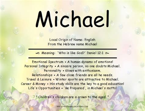 michael name meaning dad pinterest