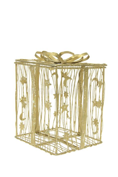 how to make a wire christmas gift box on pinterest gold wire gift box stock image image of studio 8723307