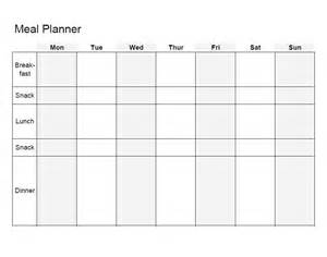 Blank Meal Plan Template by 40 Weekly Meal Planning Templates Template Lab