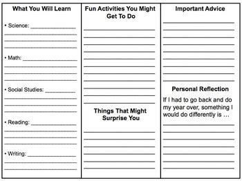 brochure template year 3 this is a brochure that outgoing students can make for