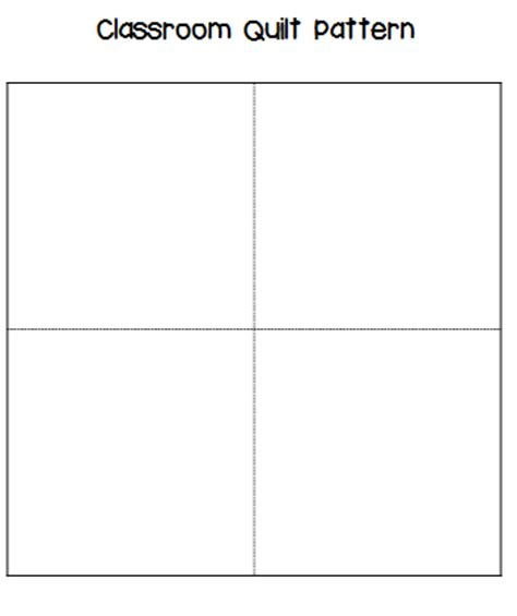 Head Over Heels For Teaching Math Mentor Text The Keeping Classroom Quilt Template