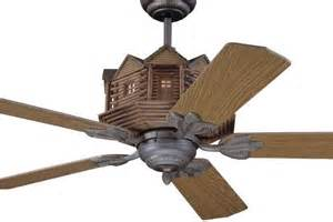 Log cabin style ceiling fans for pinterest