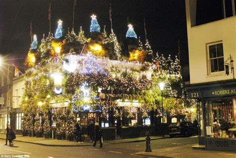 is this britain s most christmassy pub churchill arms in