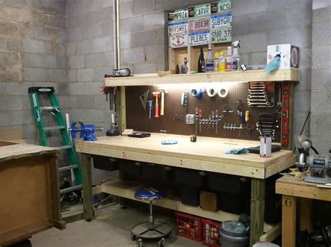 diy garage bench workbenches for garage garage home decor ideas