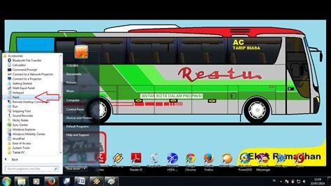 gambar desain bus desain bus indonesia tutorial menggambar menggunakan app