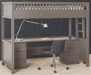 lit mezzanine quarr 233 avec bureau rabattable quax marques