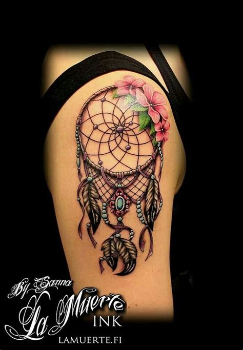 tattoo dreamcatcher with roses dream catcher tattoo tattoos pinterest