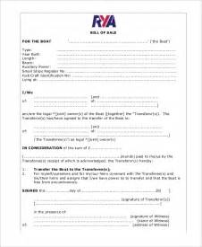boat bill of sale template 5 boat bill of sale free sle exle format free