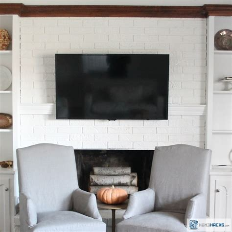 how to hide tv wires a fireplace homehacks
