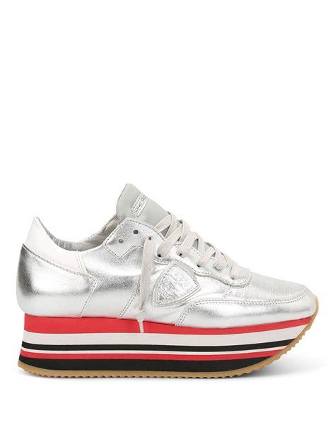 sneaker platforms eiffel striped platform sneakers by philippe model