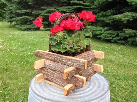 small planter box small rustic planter box rustic flower box flower basket
