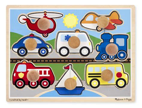 Wooden Knob Puzzles by Doug Vehicles Jumbo Knob Puzzle Toys