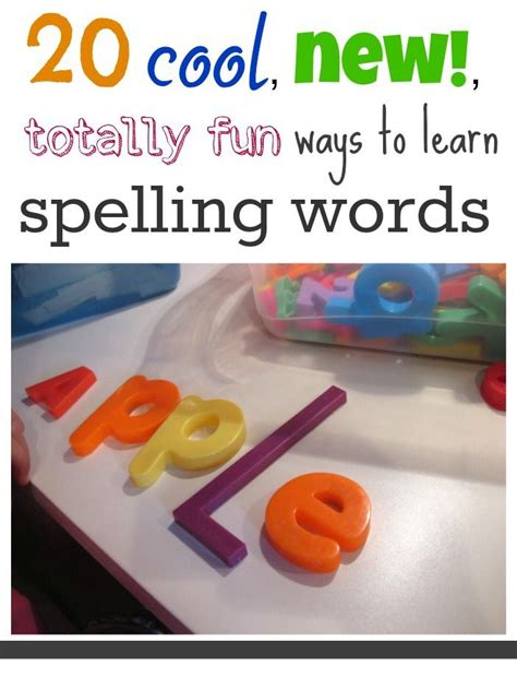 3 ways to use pinterest to learn more about your audience 20 cool new totally fun ways to learn spelling words