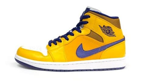 Lakers Retro White air 1 retro mid quot lakers quot 2013 theshoegame sneakers information