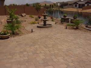 Arizona backyard designs landscape patio pavers