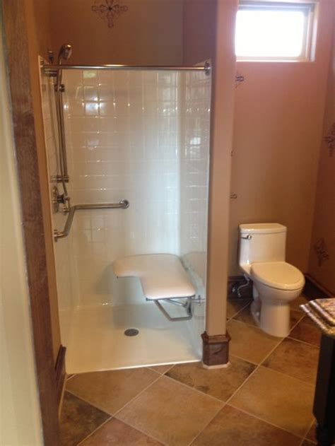 handicapped showers bathrooms handicapped accessible shower houzz
