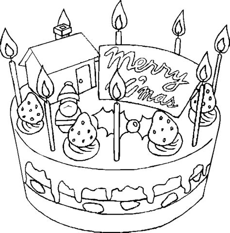 Christmas Cake Coloring Pages | christmas cake coloring pages learn to coloring