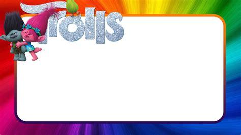 trolls template free printable trolls invitation templates invitations