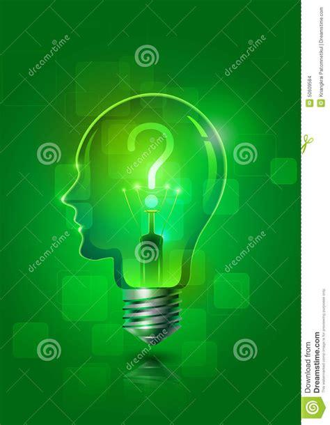green creative lighting rep creative thinking light stock vector illustration