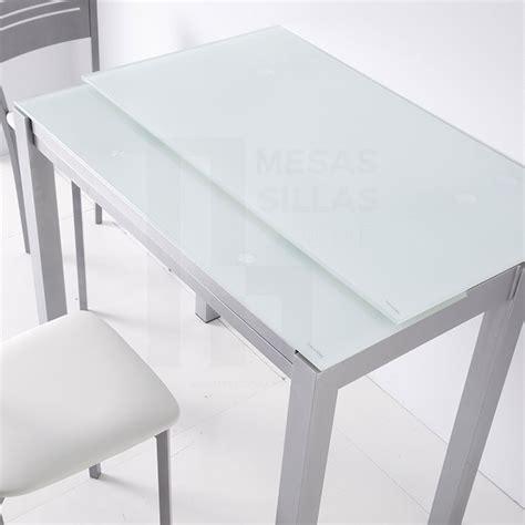 mesa extensible de cocina mesa de cocina de cristal extensible frontal 75820 21
