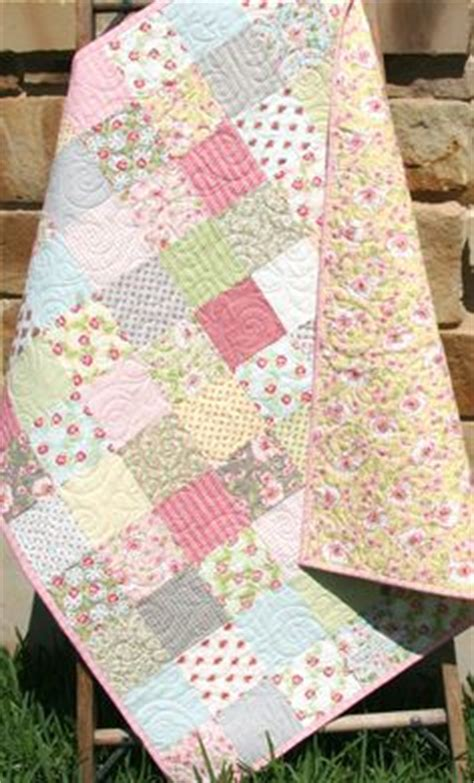 adorable baby girl quilt with tiny pink roses beautiful quilt designs and baby girls
