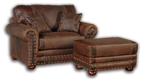 southwestern chairs and ottomans rustic distressed leather ottoman southwestern