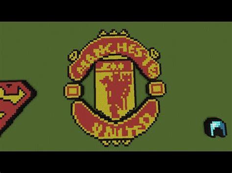 tutorial logo manchester united minecraft tutorial how to build the manchester united
