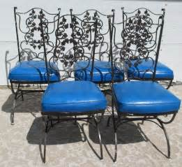 vintage mid century modern patio wrought iron chairs with